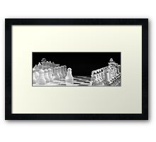 Chess 9: First move Framed Print