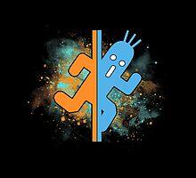 t-shirt pampa - t-shirt cactuar - portal - final fantasy - space  test room - test chamber by KokoBlacksquare