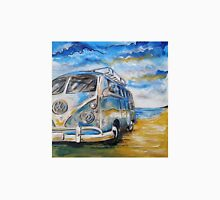 VW Volkswagen Campervan on beach Unisex T-Shirt