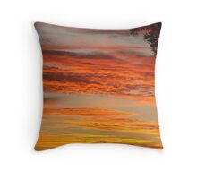 Firey Cane Colouds Throw Pillow
