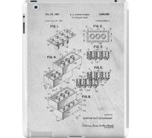 Lego original patent art for toy bricks iPad Case/Skin