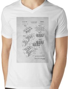 Lego original patent art for toy bricks Mens V-Neck T-Shirt