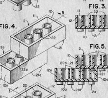 Lego original patent art for toy bricks Sticker