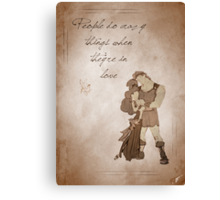 Hercules inspired valentine. Canvas Print