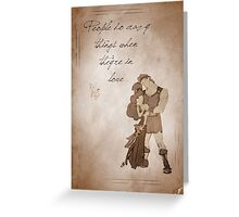 Hercules inspired valentine. Greeting Card