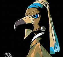 The Bird with the Pearl Earring by Jack Mudge