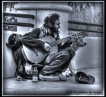 Man, Guitar, Dog by michaelwsf