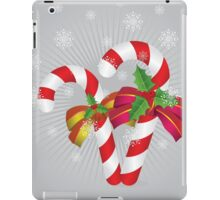 Two candy canes with bows iPad Case/Skin