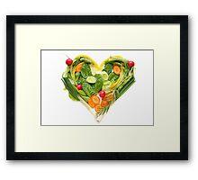 Heart of vegetables! SALE! Framed Print