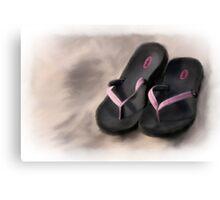 Sandals on the Beach Canvas Print
