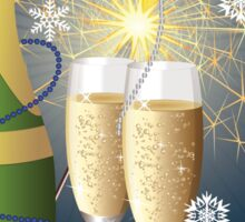 Card with champagne 2 Sticker