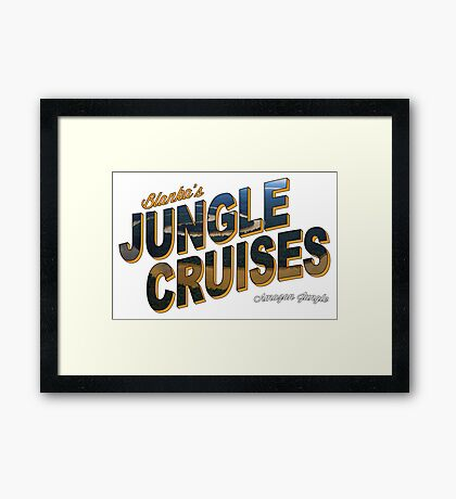 Blanka's Jungle Cruises Framed Print