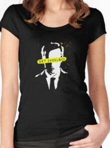 Moriarty Get Sherlock  Women's Fitted Scoop T-Shirt