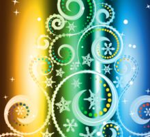 Greeting card design with abstract Christmas tree Sticker