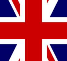British, Union Jack Flag, 1;2 UK, Blighty, United Kingdom, Portrait, Pure & simple  Sticker