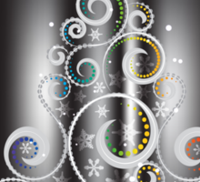 Greeting card design with abstract Christmas tree 2 Sticker