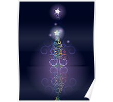 Greeting card design with abstract Christmas tree 3 Poster