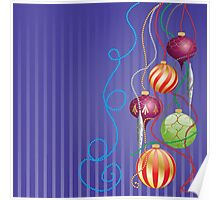 Card with glossy balls Poster
