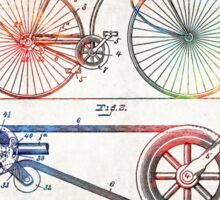 Colorful Bike Art - Vintage Patent - By Sharon Cummings Sticker