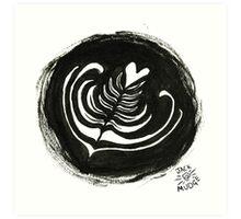 Latte Art Art Print