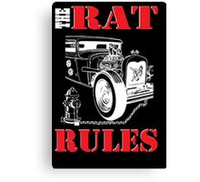 The Rat Rules - Poster Canvas Print
