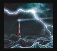 Lighthouse in the storm Kids Clothes