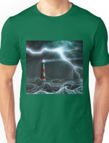 Lighthouse in the storm Unisex T-Shirt