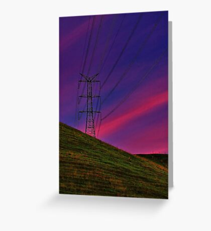 """Power on High"" Greeting Card"