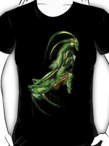 Praying Mantis Doodle Art T-Shirt
