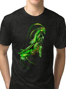 Praying Mantis Doodle Art Tri-blend T-Shirt
