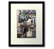 Dragon Corner Framed Print