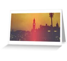 Surreal City Silhouette Greeting Card