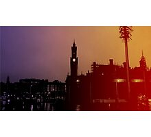 Rainbow City Silhouette Photographic Print