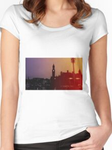 Rainbow City Silhouette Women's Fitted Scoop T-Shirt