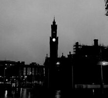 Black and White City Silhouette by Tally94