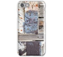 XO Aged Wooden Fence iPhone Case/Skin