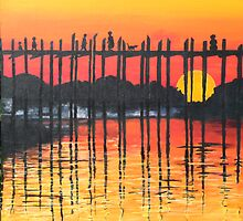Bridge in Sunset by spuddy