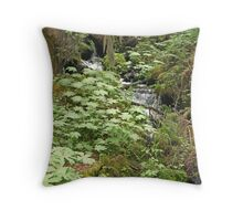 """Creek and Lavish Ground Cover"" Throw Pillow"