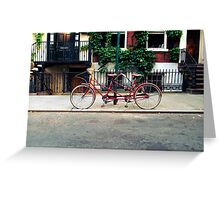 Tandem Bike on the Street Greeting Card