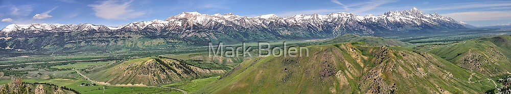 Grand Tetons National Park from Snow King by Mark Bolen