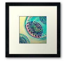 surf mandala Framed Print