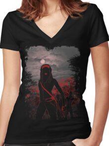 survival instinct Women's Fitted V-Neck T-Shirt