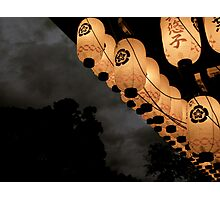 japanese lanterns Photographic Print