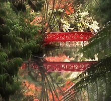 Autumn and the Red Bridge by Peter Kurdulija