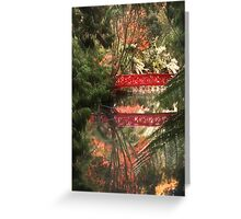Autumn and the Red Bridge Greeting Card