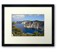 Zakynthos cliffs  Framed Print