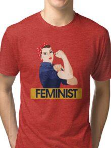 Rosie Riveter Feminist Tri-blend T-Shirt