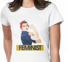 Rosie Riveter Feminist Womens Fitted T-Shirt
