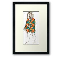 Little girl in a dress Framed Print