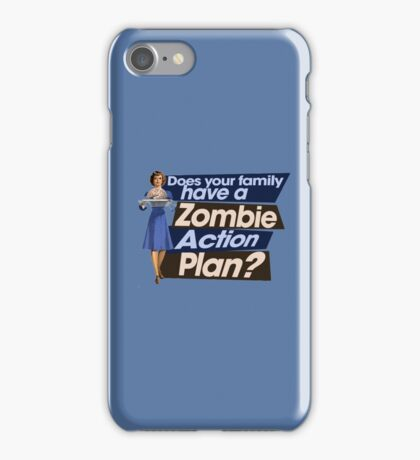 Zombie Action Plan iPhone Case/Skin